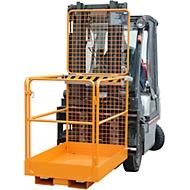 Veiligheidskooi SIKO/L, L 1290 x B 800 x H 1890 mm, oranje