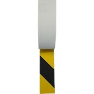 Veiligheidsmarkering, voor binnen, 25 mm x 6 m, zwart/geel