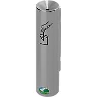 Veiligheidswandasbak H30, zilver