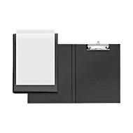 VELOFLEX® klemmap, A4, kunststof, met ophangoog, met insteekhoes, zwart