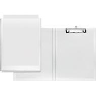 VELOFLEX® Klemmmappe, DIN A4, Kunststoff, mit Hängeöse, mit Einstecktasche, weiß