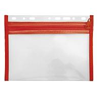 Veloflex Reißverschlusstasche Velobag XXS, Format DIN A5, rot