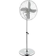 Ventilator staand Chrome-Line, Ø 400 mm, in hoogte verstelbbar 1040-1350 mm, 3 snelheden, metalen rotorbladen