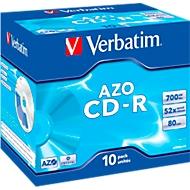 Verbatim CD-R, 52x, 700 MB:80 min.,10 JewelCases