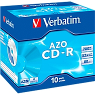Verbatim CD-R, tot 52x, 700 MB/80 min, 10 JewelCases
