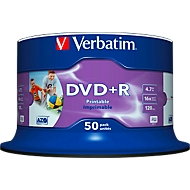 Verbatim DVD+R AZO Wide Inkjet Printable, Kapazität 4,7 GB,  50er-Spindel