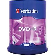 Verbatim® DVD+R, bis 16fach, 4,7 GB/120 min, 100er-Spindel