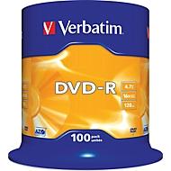 Verbatim® DVD-R, bis 16fach, 4,7 GB/120 min, 100er-Spindel