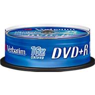 Verbatim® DVD+R, bis 16fach, 4,7 GB/120 min, 25er-Spindel
