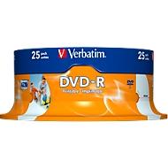 Verbatim® DVD-R printable (Tinte), bis 16fach, 4,7 GB/120 min, 25er-Spindel