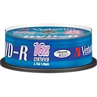 Verbatim® DVD-R, tot 16-voudig, 4,7 GB/120 min, spindel met 25 stuks