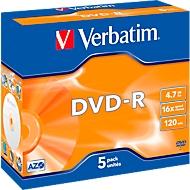 Verbatim® DVD-R, tot 16x, 4,7 GB/120 min., 5 JewelCase