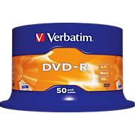Verbatim dvd-r, tot 16x, 50-dlg. spindel