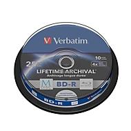 Verbatim DVD-Rohlinge M-Disc BD-R (Blu-ray), bedruckbar, Spindel, 10 Stück