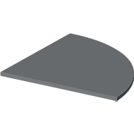 Verbindingsplaat Start Up, voor T-poot, 1/4-cirkel, B 800 x D 800 x H 735 mm, hout, grafiet