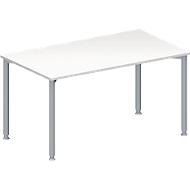 Vergadertafel MODENA FLEX, in hoogte verstelbaar, rechthoekige vorm, 4-poot ronde buis, B 1400 x D 800 mm, wit