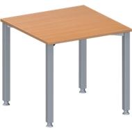 Vergadertafel MODENA FLEX, in hoogte verstelbaar, vierkante vorm, 4-poot vierkante buis, B 800 x D 800 mm, beukenpatroon
