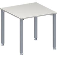 Vergadertafel MODENA FLEX, in hoogte verstelbaar, vierkante vorm, 4-poot vierkante buis, B 800 x D 800 mm, lichtgrijs