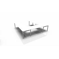 Vergadertafelsysteem IDEA, U-vorm 12 plaatsen, B 3200 x D 3200 mm, wit/aluminium