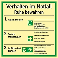 Verhalten im Notfall (allemand