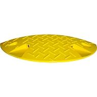 Verkeersdrempel, eindstuk <20 km/h, geel
