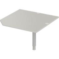 Verkettungsplatte PLANOVA ERGOSTYLE, CAD, B 1000, Fuß, lichtgrau
