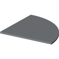 Verkettungsplatte SET UP, 1/4-Kreis, für C-Fuß-Schreibtische SET UP, 800 x 800 mm, graphit