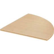 Verkettungsplatte Start Up, f. T-Fuß, 1/4-Kreis, B 800 x T 800 x H 735 mm, Holz, ahorn