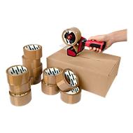 Verpakkingstape CLIP met afroller, om verpakkingen veilig te sluiten, 12 rollen