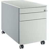 Verrijdbaar ladeblok 126, met greepuitsparing blank aluminium/lichtgrijs/lichtgrijs