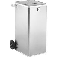 Verrijdbare alu data-afvalbak D1009 R, 240 liter