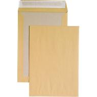 Versandtasche, C4, Papprückwand und Haftklebung, ohne Fenster, braun, 125 St.