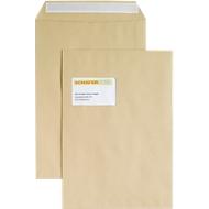 Versandtaschen, Fenster, haftklebend, 100 g/m², DIN C4, 250 Stück, natronbraun