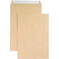 Versandtaschen, ohne Fenster, haftklebend, 120 g/qm, DIN B4, 250 Stück, natronbraun