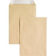 Versandtaschen, ohne Fenster, haftklebend, 90 g/m², DIN C5, 500 Stück, natronbraun