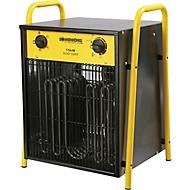 Verwarmingstoestel VENTUS 1500, vermogen 15000 W, IPX4, 4 verwarmingsstanden, B 410 x D 360 x H 550 mm, zwart-geel