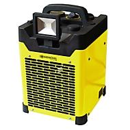 Verwarmingstoestel VENTUS 250, vermogen 2500 W, IPX4, 2 verwarmingsstanden, B 270 x D 255 x H 400 mm, zwart-geel