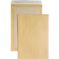 Verzendenvelop, B4, kartonnen achterkant en kleefsluiting, zonder venster, bruin, 125 st.