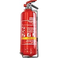 Vetbrandblusser Gloria FBDP2, DIN EN 3 voor brandklasse A/B/F, volume 2 l, spuitbreedte 2 m, met manometer, rood