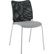 Vierfuß-Stuhl Sun, ohne Armlehnen, alusilber/grau