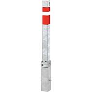 Vierkantpfosten, Profilhalbzylinder-Vorrichtung