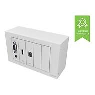 VISION TechConnect TC3 Wall-Mount Faceplate Package - modulares Faceplate mit Snap-Ins