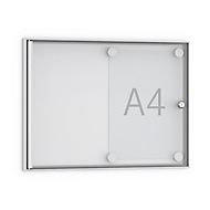 Vlak informatiebord, puntig, 2 x A4, acrylglazen deur