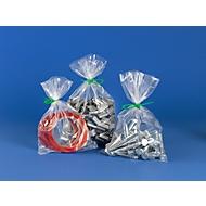 Vlakke zakjes van PE 1000 st. + kabelbinders groen 1000 st., gratis