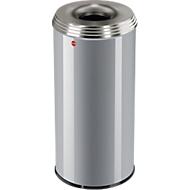 Vlamdovende prullenbak 50 l, zilver