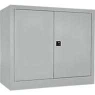 Vleugeldeurkast MS iCONOMY, staal, 2 ordnerhoogten, B 800 x D 400 x H 865 mm, wit aluminium RAL 9006