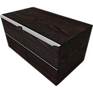 Vleugeldeurkast QUANDOS BOX, 1 ordnerhoogte, B 800 x D 440 x H 374 mm, moeraseik