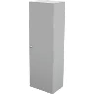 Vleugeldeurkast TETRIS WALL, 5 ordnerhoogten, deuraanslag rechts, B 600 x D 440 x H 1880 mm, lichtgrijs