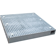 Vloerbeschermingsbak type BSW 123, berijdbaar, gegalvaniseerd