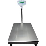 Vloercontroleweger, weegvermogen 75 kg, leesbaarheid 5 g, w. LED-display, w. trekschild